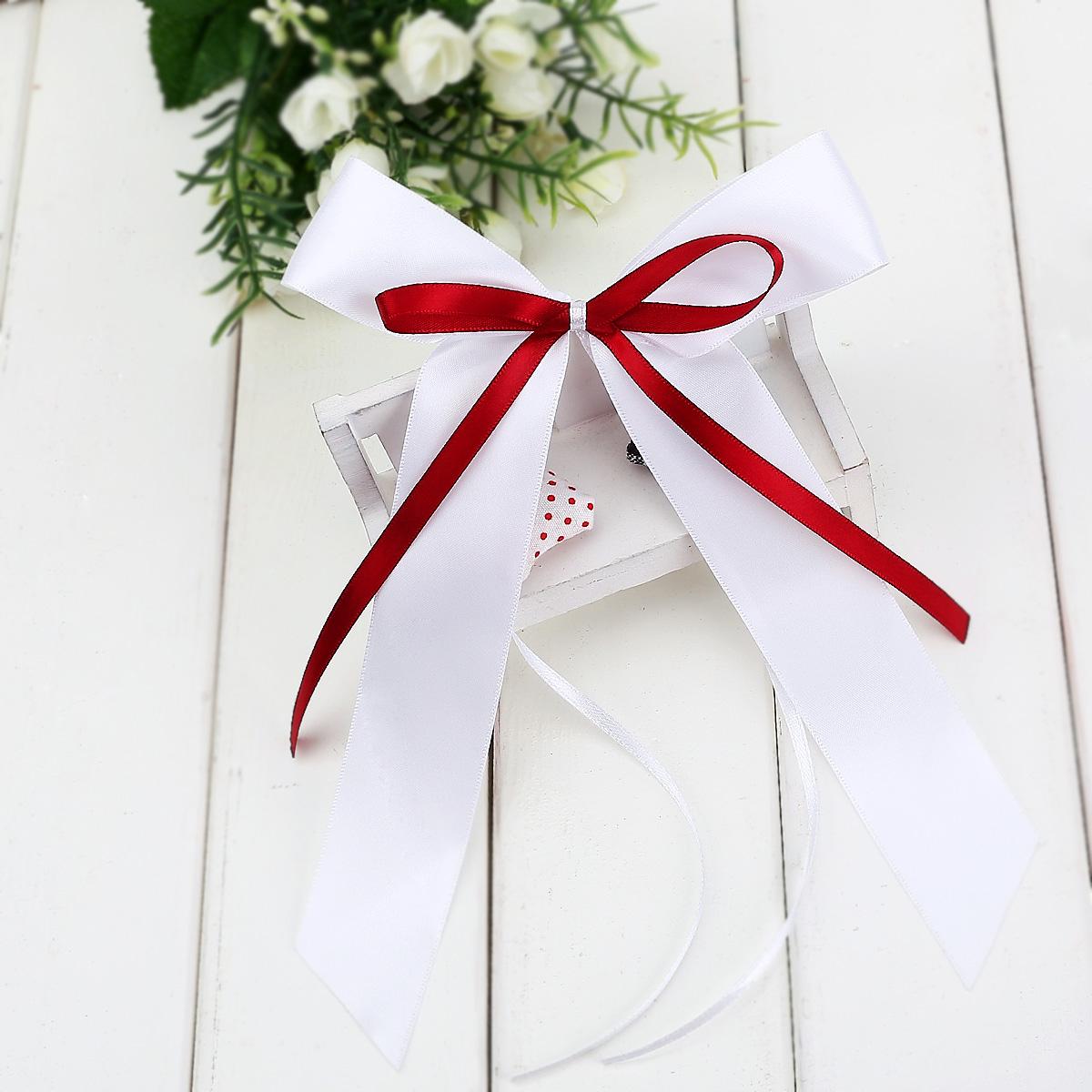 10pcs noeud papillon satin ruban d co voiture salle de mariage rouge vin blanc ebay. Black Bedroom Furniture Sets. Home Design Ideas