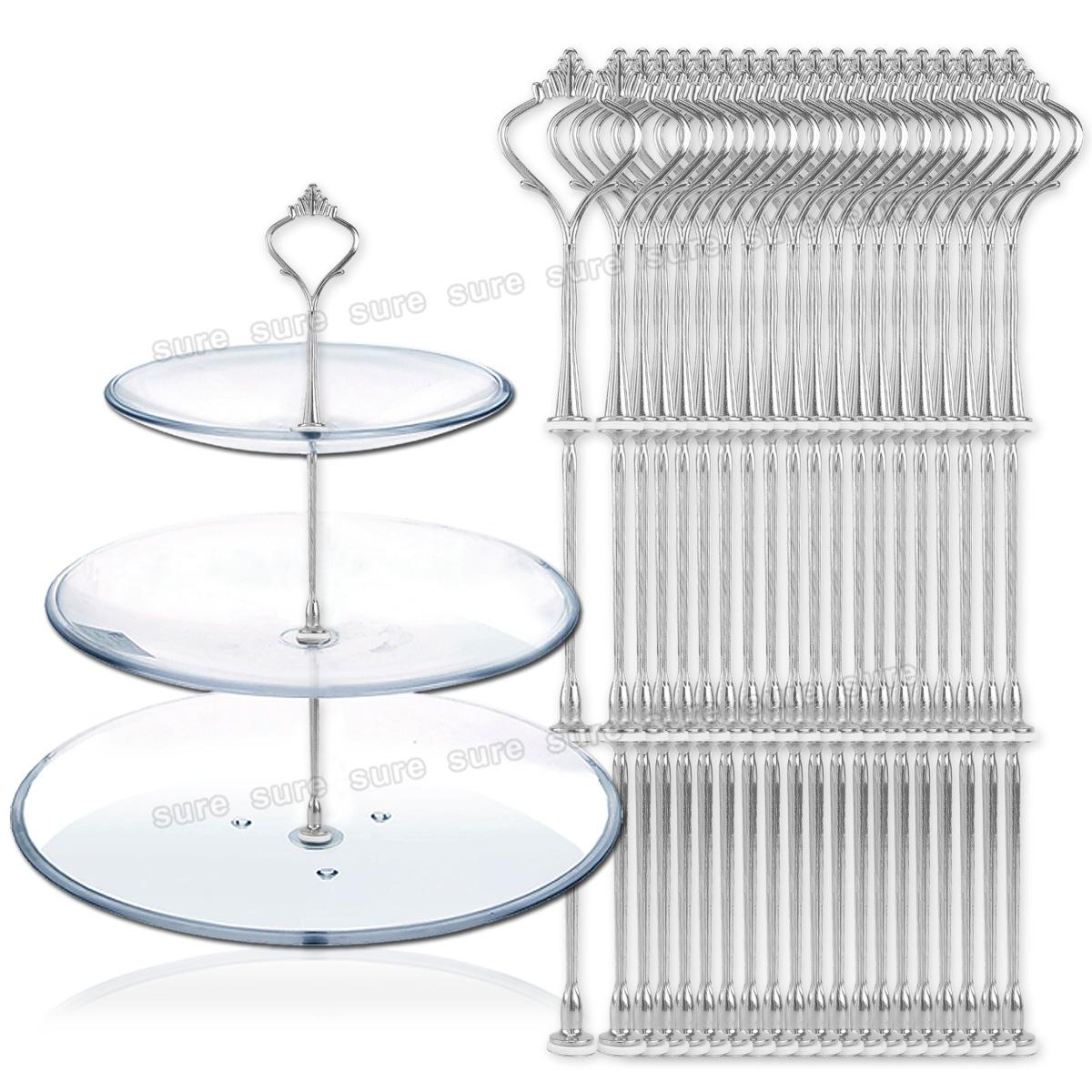 20 x silber metallstange mittellochausstech f r 3 etagere kuchen tortenst nder ebay. Black Bedroom Furniture Sets. Home Design Ideas