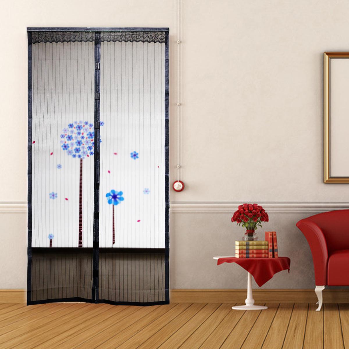 Cortina malla para puerta cubierta magn tica anti insectos - Imanes para puertas ...