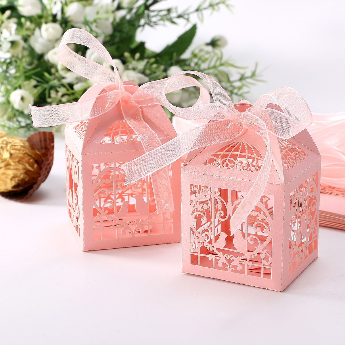 ... Wedding Favour Boxes With Ribbon Favor BOX Wedding Bomboniere Gift