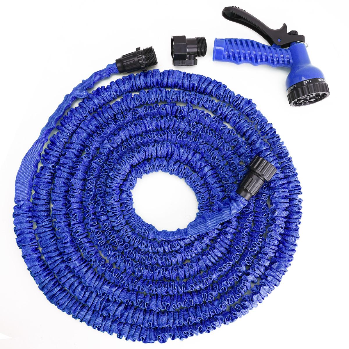 50ft 15m expanding flexible garden water hose pipe spray
