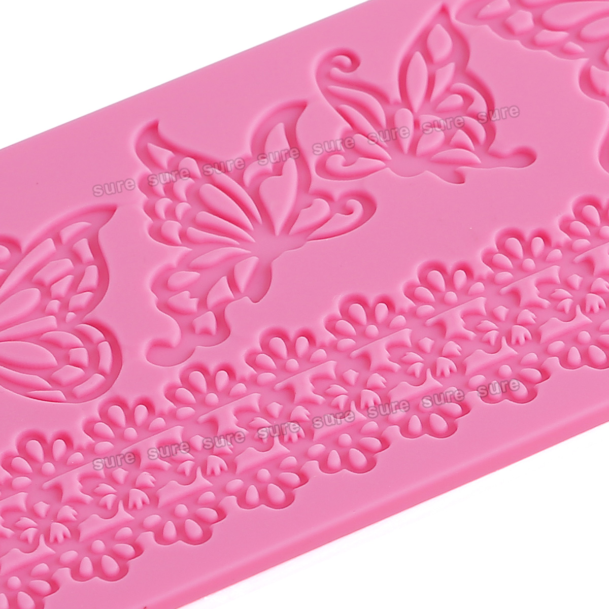 Cake Decorating Lace Molds Uk : Silicone Lace Icing Cake Mold Mould Baking Tool For ...