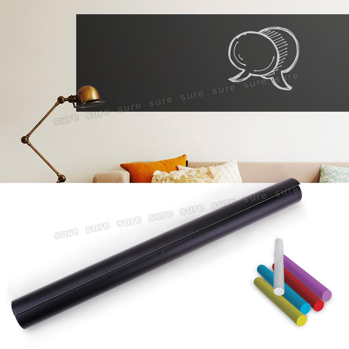 selbstklebende tafelfolie klebefolie zum beschreiben inkl kreide 300 x 60 cm ebay. Black Bedroom Furniture Sets. Home Design Ideas