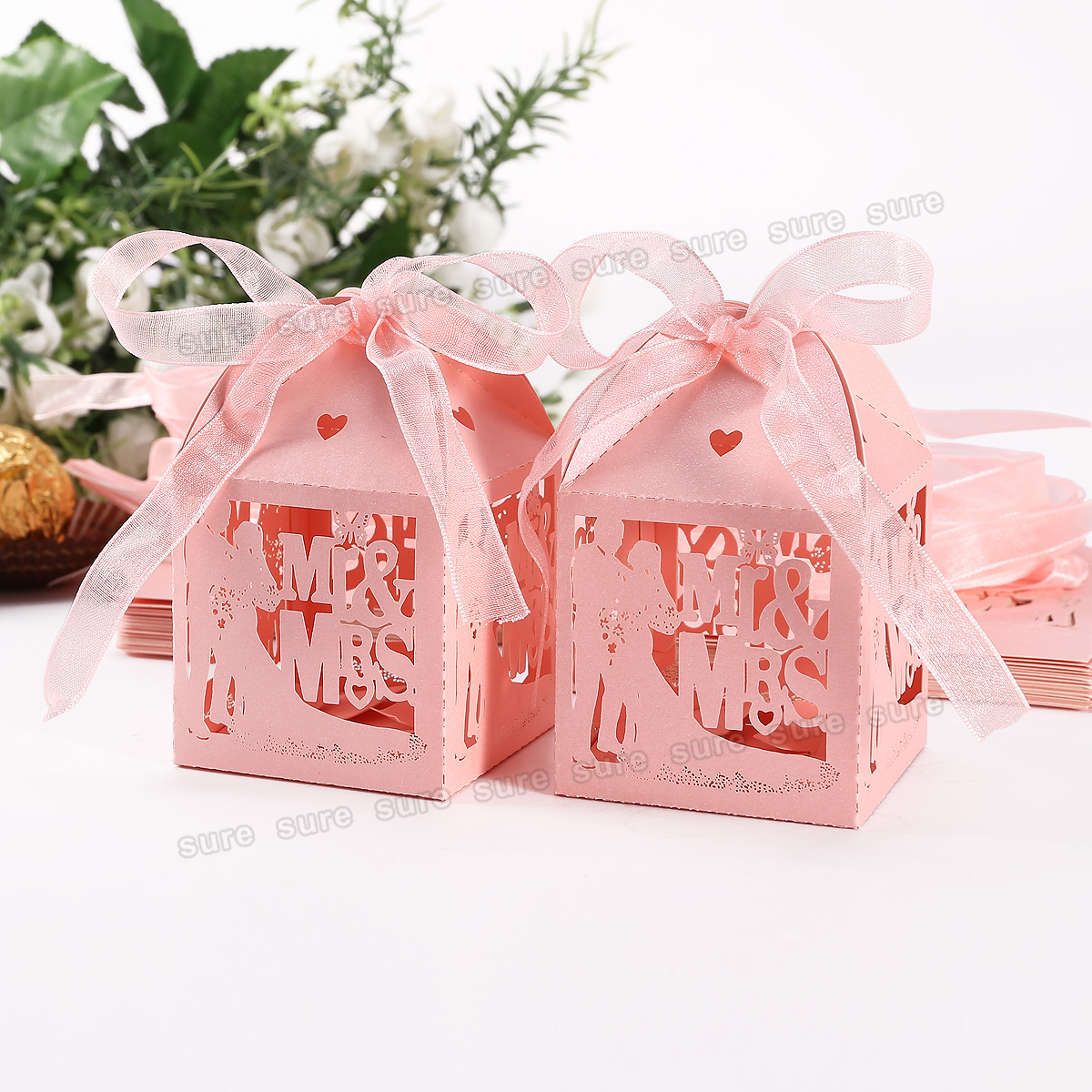 Wedding Favour Gift Boxes Uk : Wedding Party Engagement Specially Favor Boxes Mr&Mrs Laser Cut 4 Gift ...