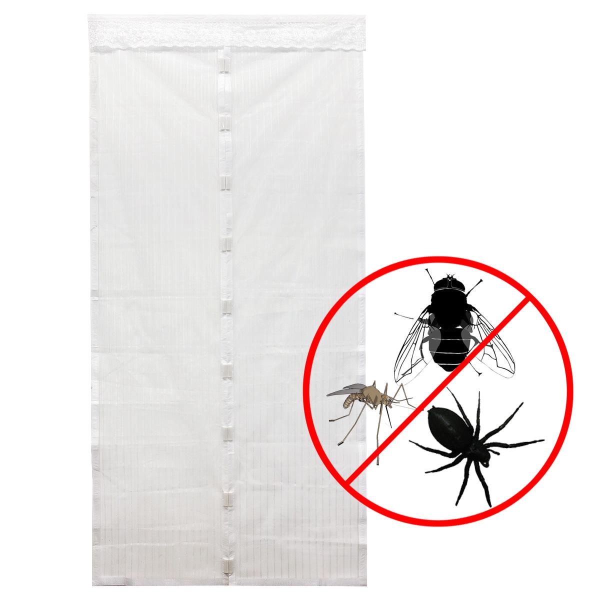 weiss magnet moskitonetz gitter magnetverschlu insektenschutz fliegennetz 210cm ebay. Black Bedroom Furniture Sets. Home Design Ideas
