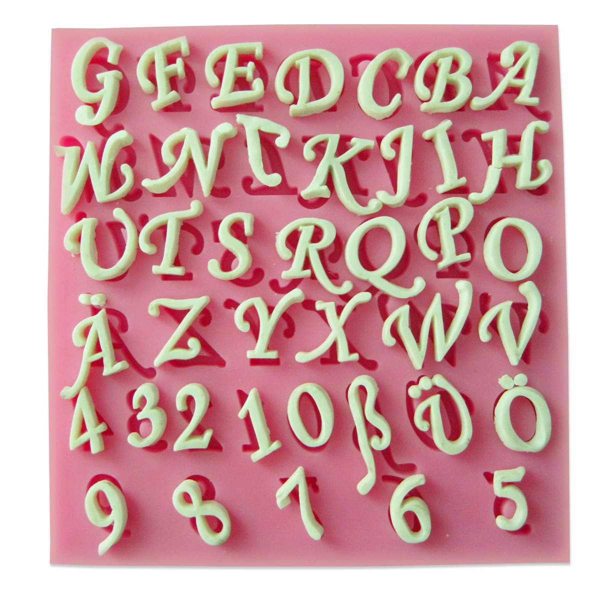 Cake Decorating Sugar Letters : 3D Number Alphabet Letters Silicone Cake Fondant Molds ...