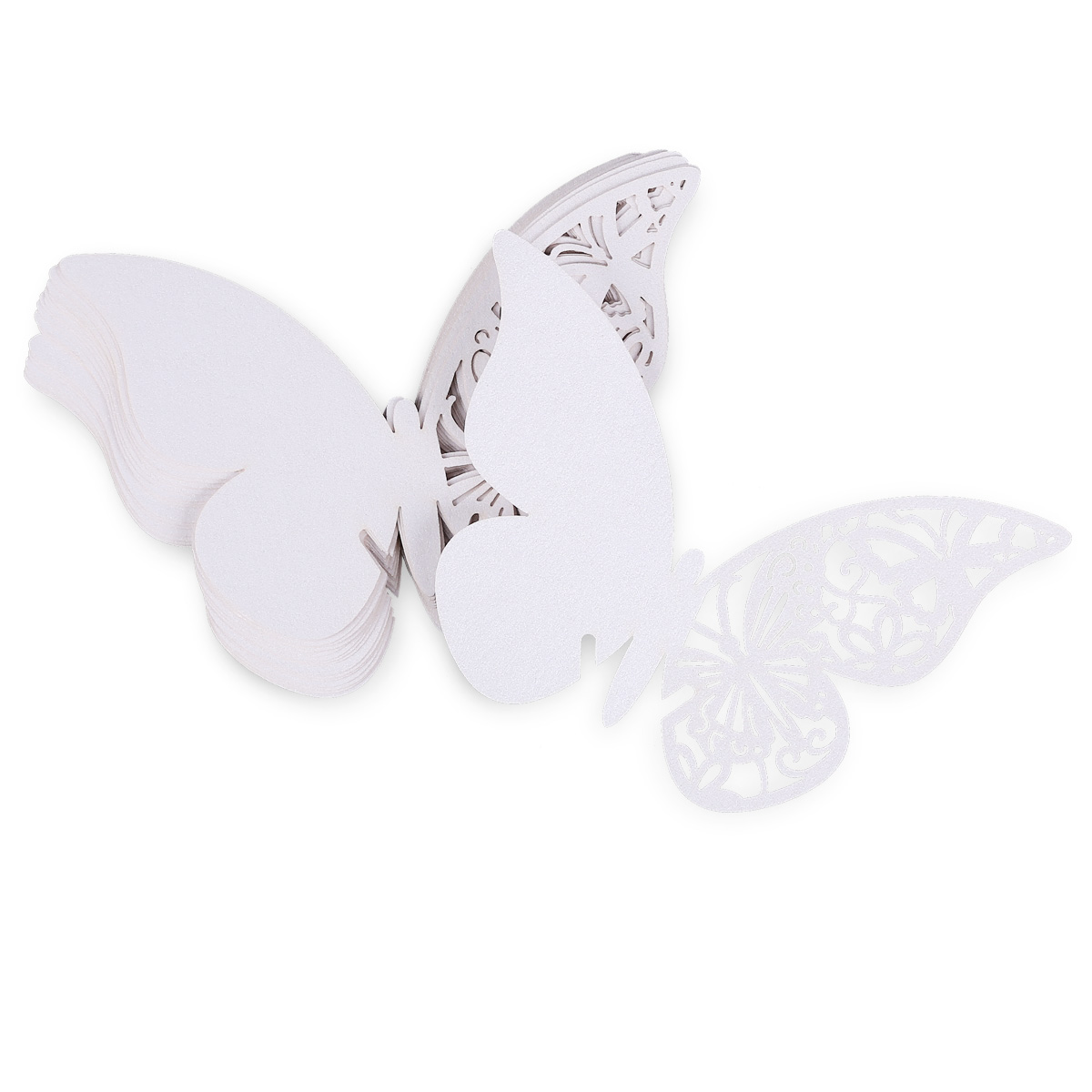 60 X Platzkarten Tischkarten Namenkarte Schmetterling