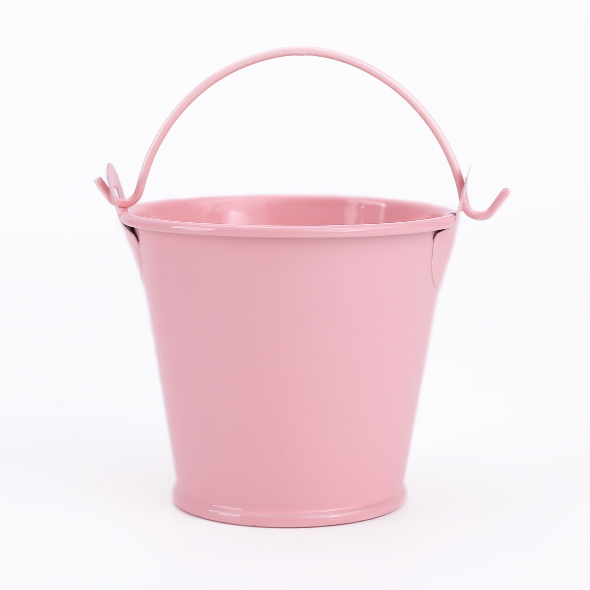 12pcs pink mini metal bucket candy favours box pail for Small pail buckets