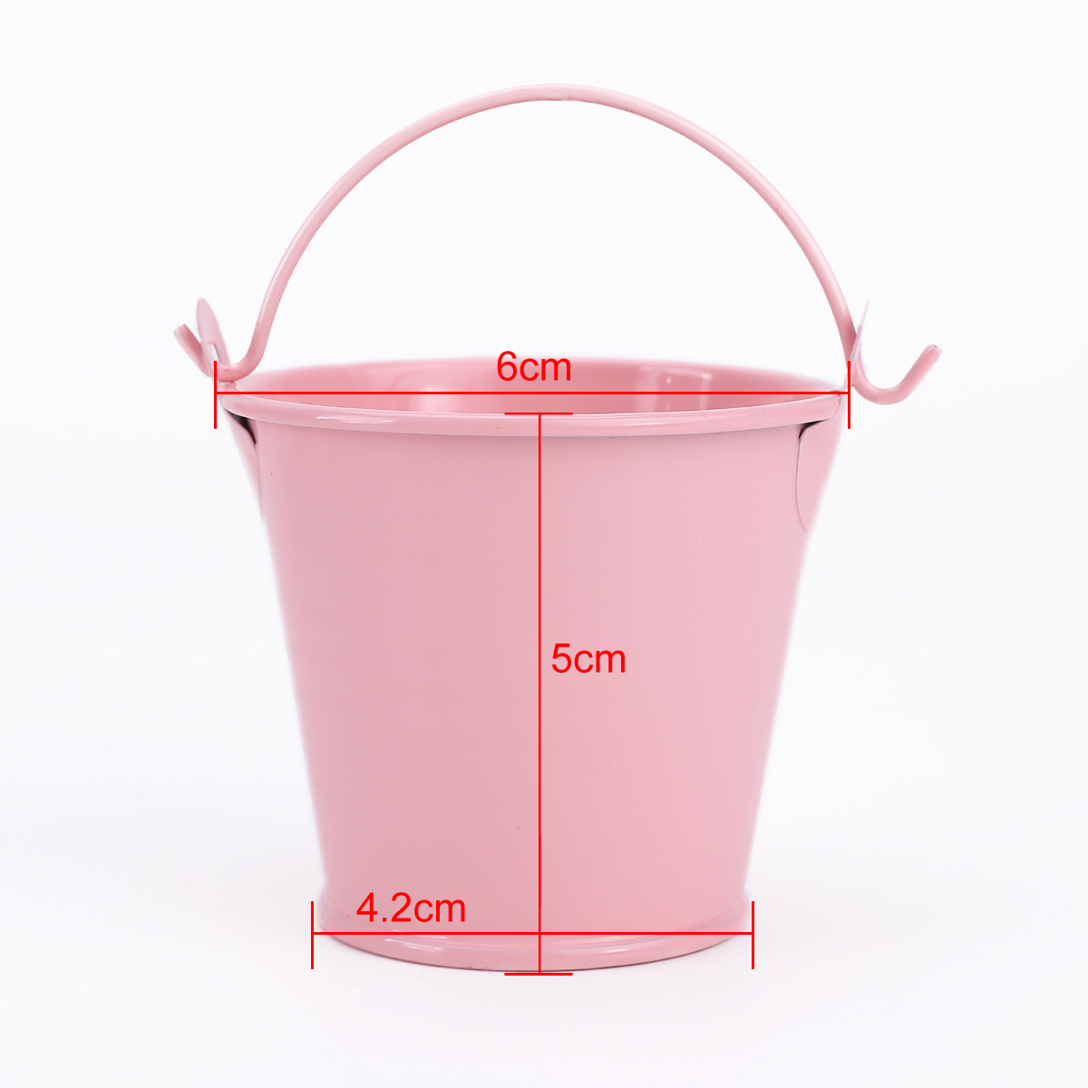 pink mini decoration buckets pails metal wedding day gifts