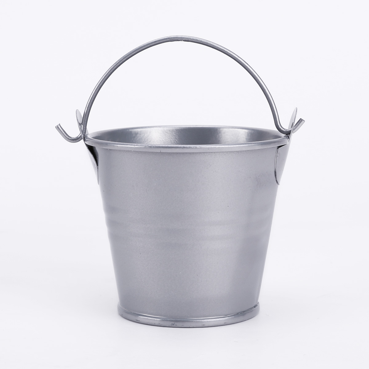 set of 12 small metal galvanized buckets decorative