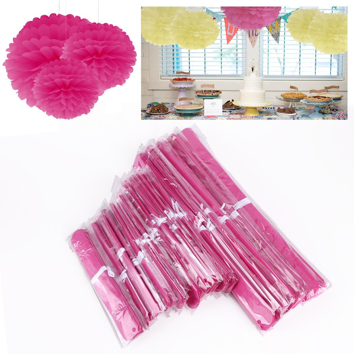30 st pink papier blume pompom party deko geburtstag Deko 30 geburtstag pink