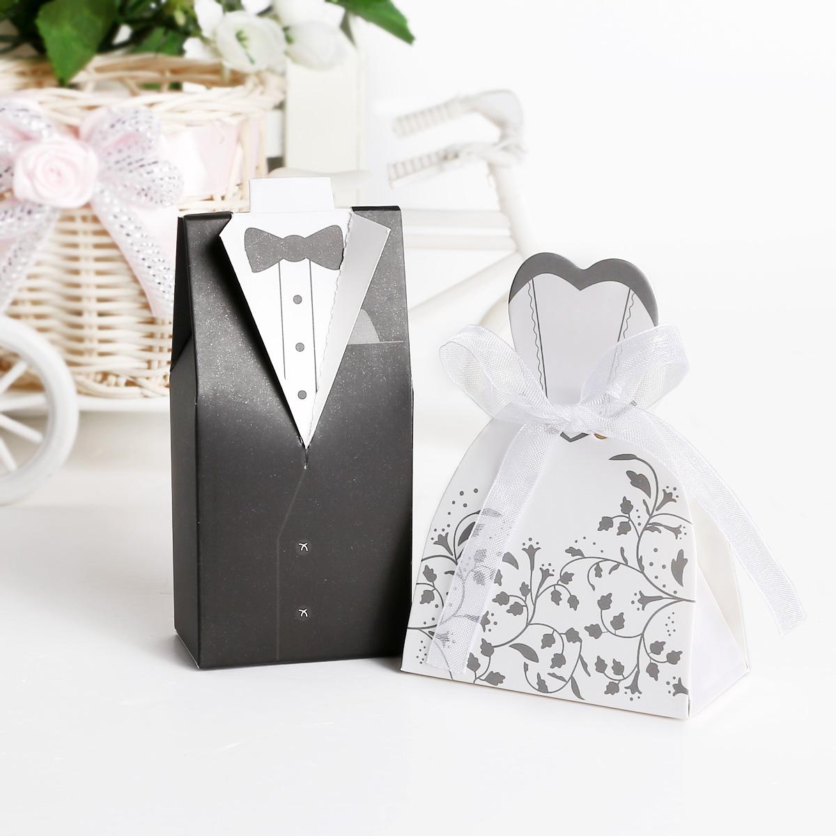 Brides Box: 100 200 Wedding Bomboniere Cake Candy Favour Boxes Dress