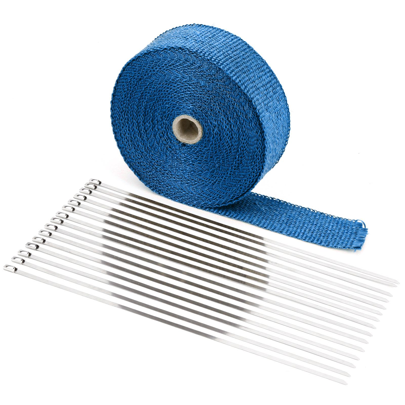 bande isolant thermique collecteur echappement moto fibre verre longeur 15m bleu eur 21 99. Black Bedroom Furniture Sets. Home Design Ideas