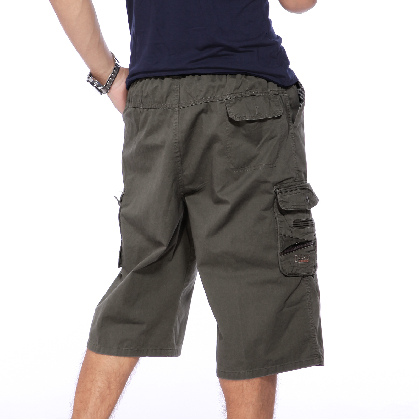 herren jungen casual cargo hosen shorts gummizug kurze bermuda 3 farben geschenk ebay. Black Bedroom Furniture Sets. Home Design Ideas