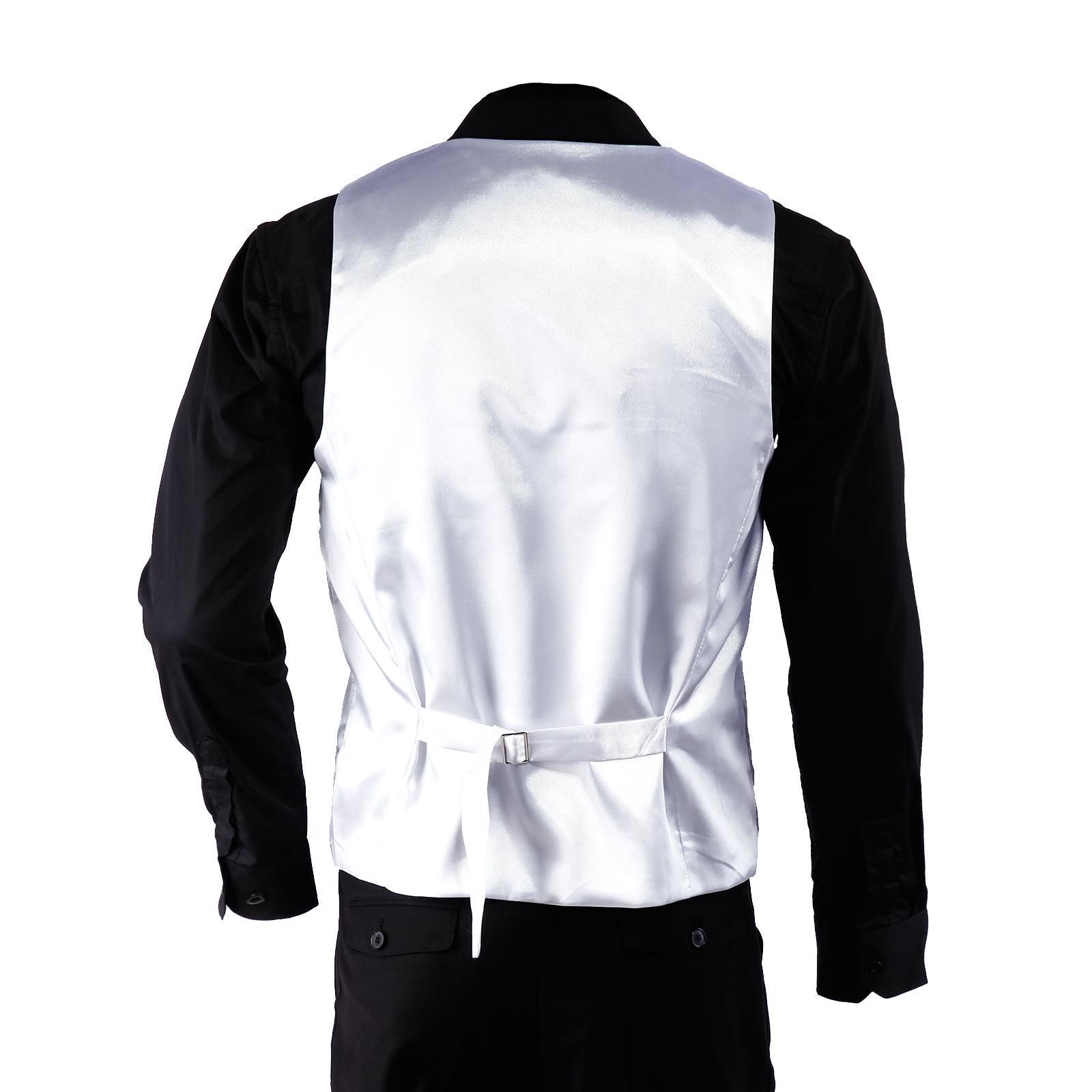 groom formal black white silk