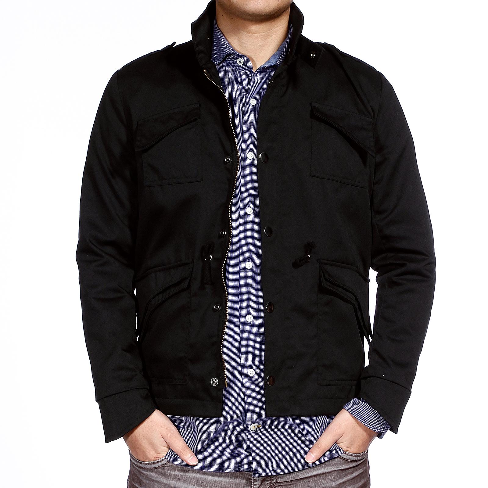 manteau homme jacket blouson moto armee sweat shirt veste noir 4taille coat mode. Black Bedroom Furniture Sets. Home Design Ideas