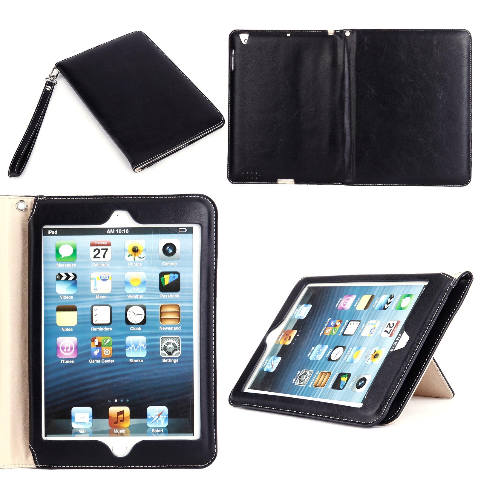 housse pochette pour ipad mini ipad pro ipad air noir brun violet avec ficelle ebay. Black Bedroom Furniture Sets. Home Design Ideas