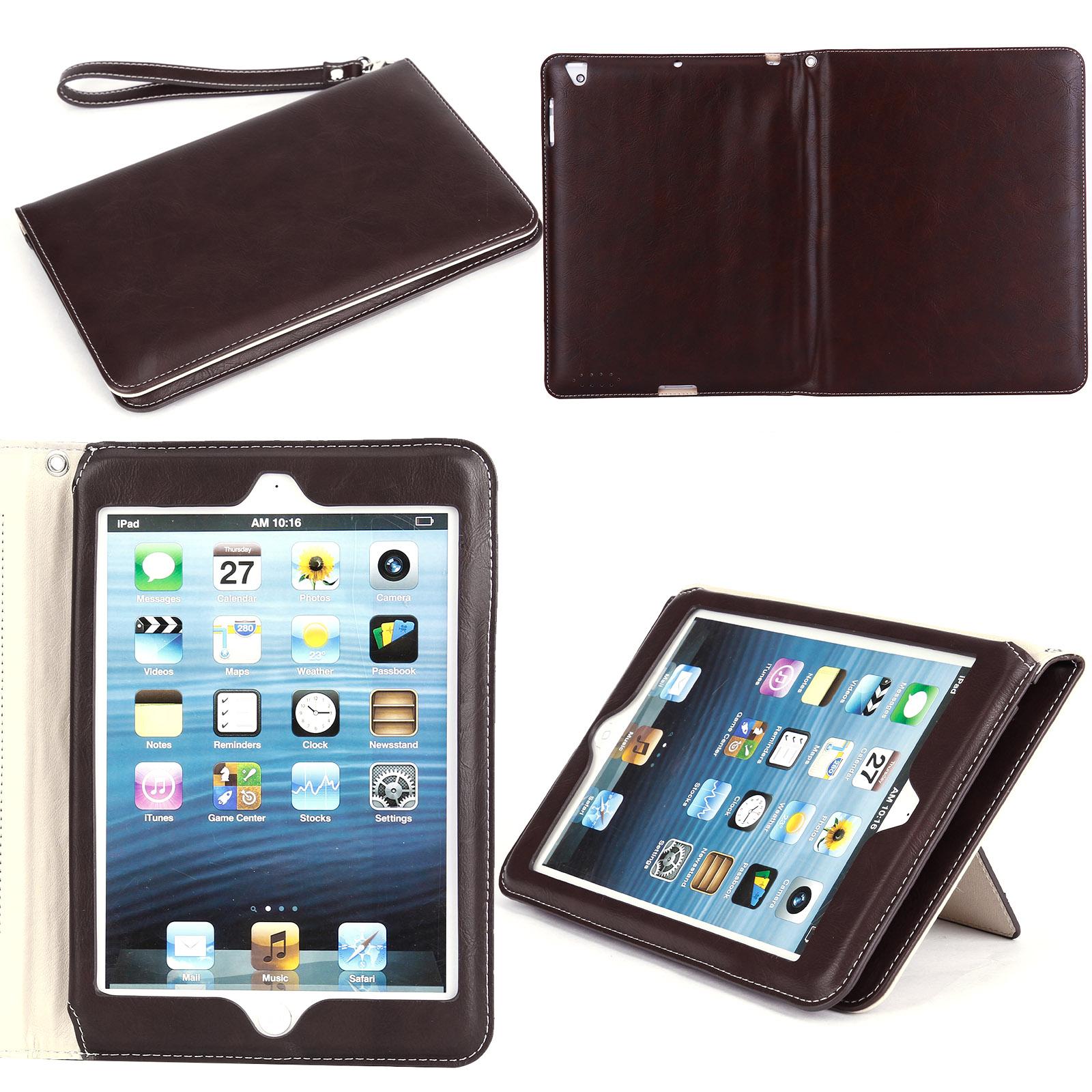 Housse pochette pour ipad mini ipad pro ipad air noir brun for Housse i pad mini