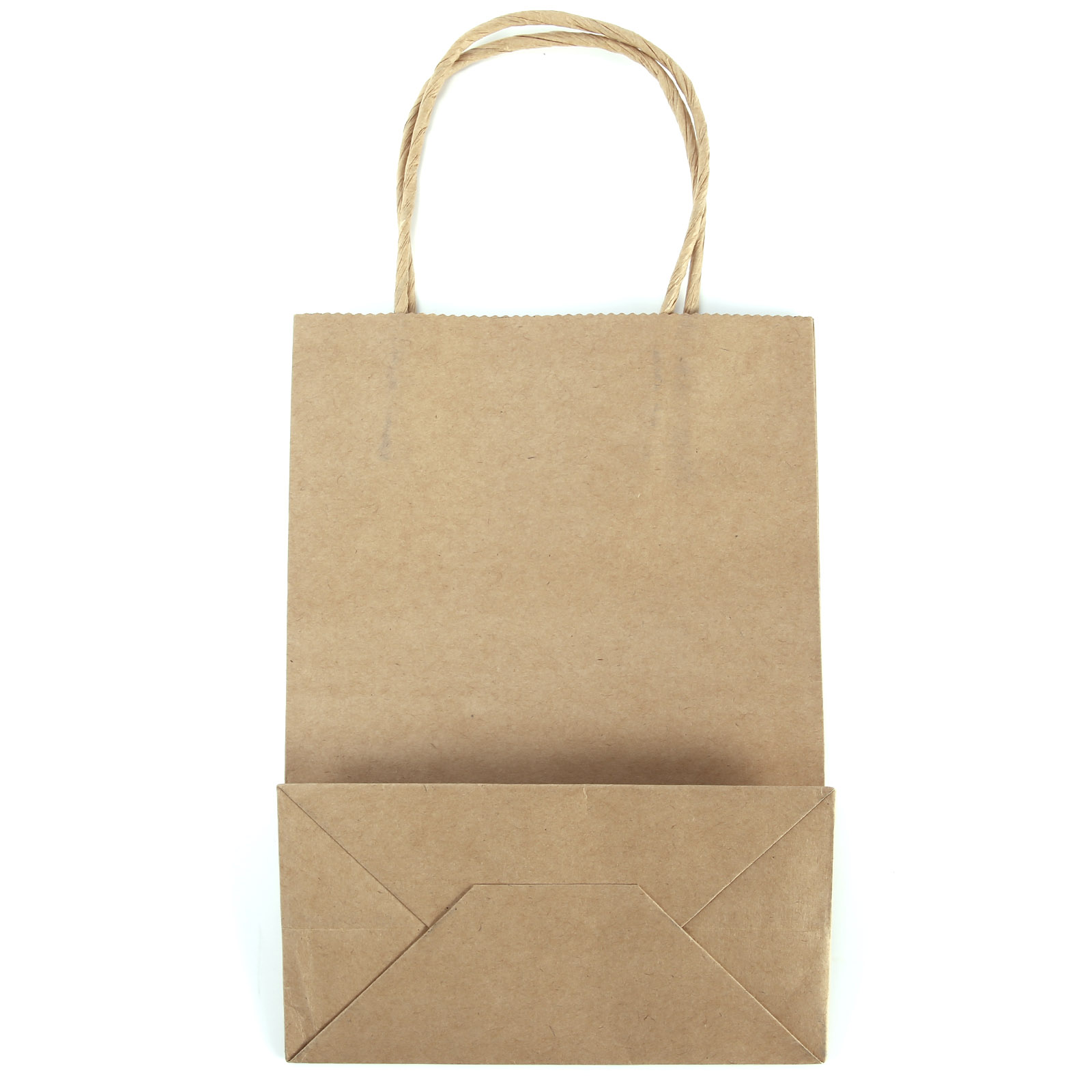Brown kraft craft twisted handle paper carrier bags for Brown paper craft bags
