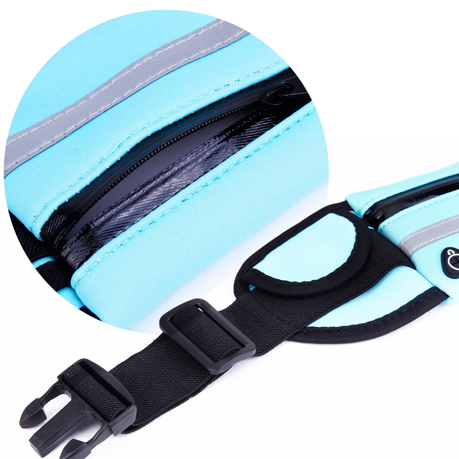 bleu sac banane ceinture de voyage portefeuille course sport pochette mobile ebay. Black Bedroom Furniture Sets. Home Design Ideas
