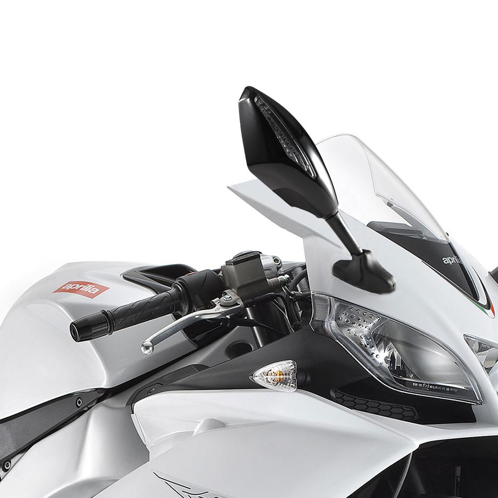 paar motorrad spiegel lenkerspiegel mit led motorrad. Black Bedroom Furniture Sets. Home Design Ideas