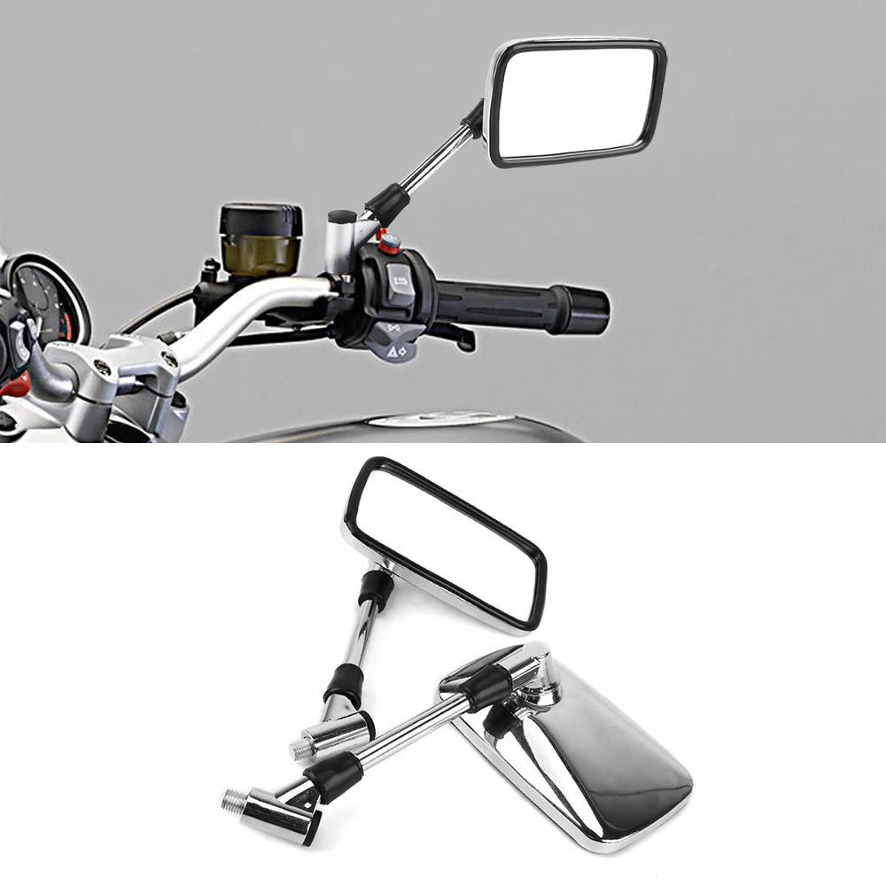 motorcycle mirrors universal chrome handlebar 10mm rear motorbike silver thread mirror motorcycles stem body dhgate