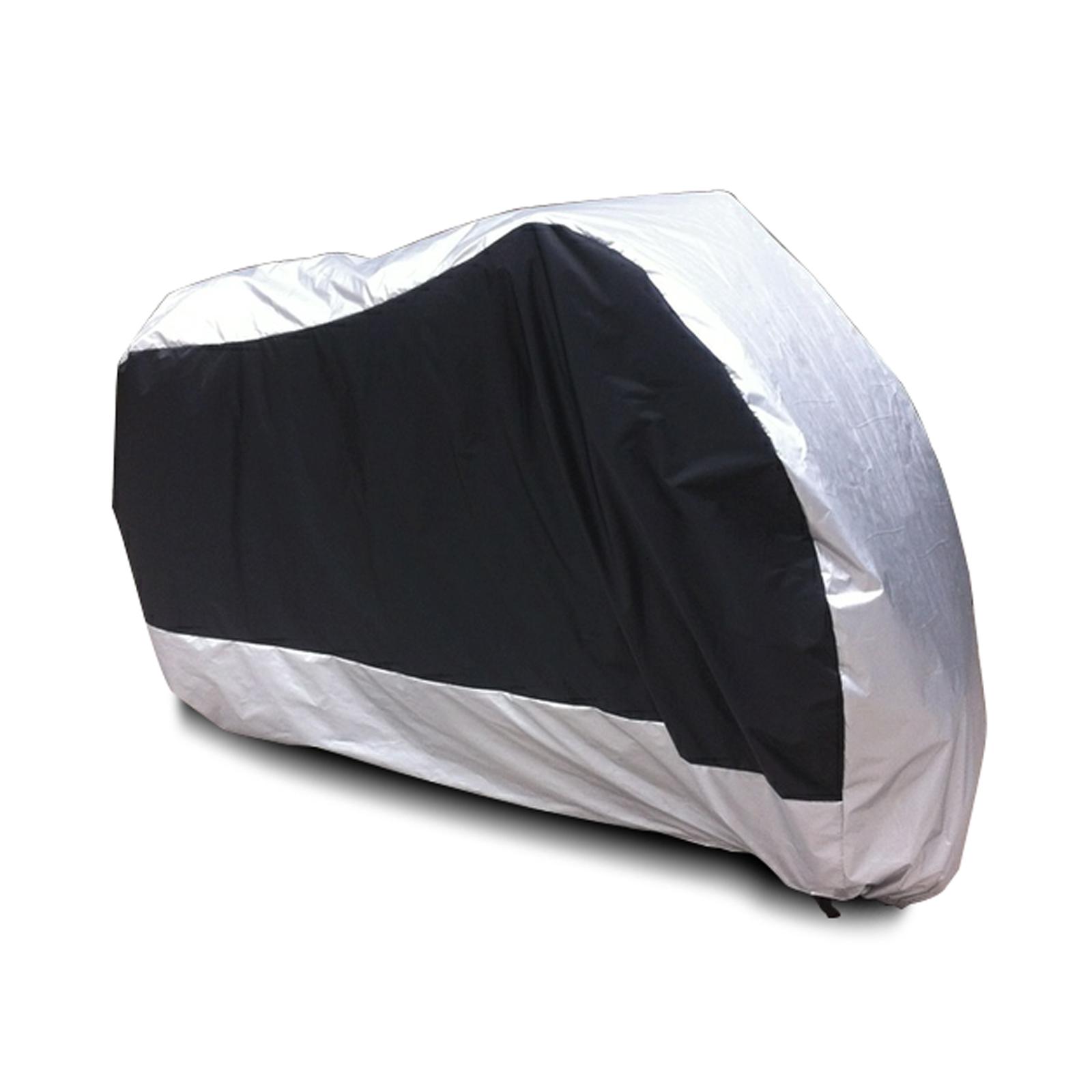 Taille xxl noir argente housse de protection moto scooter for Bache moto exterieur