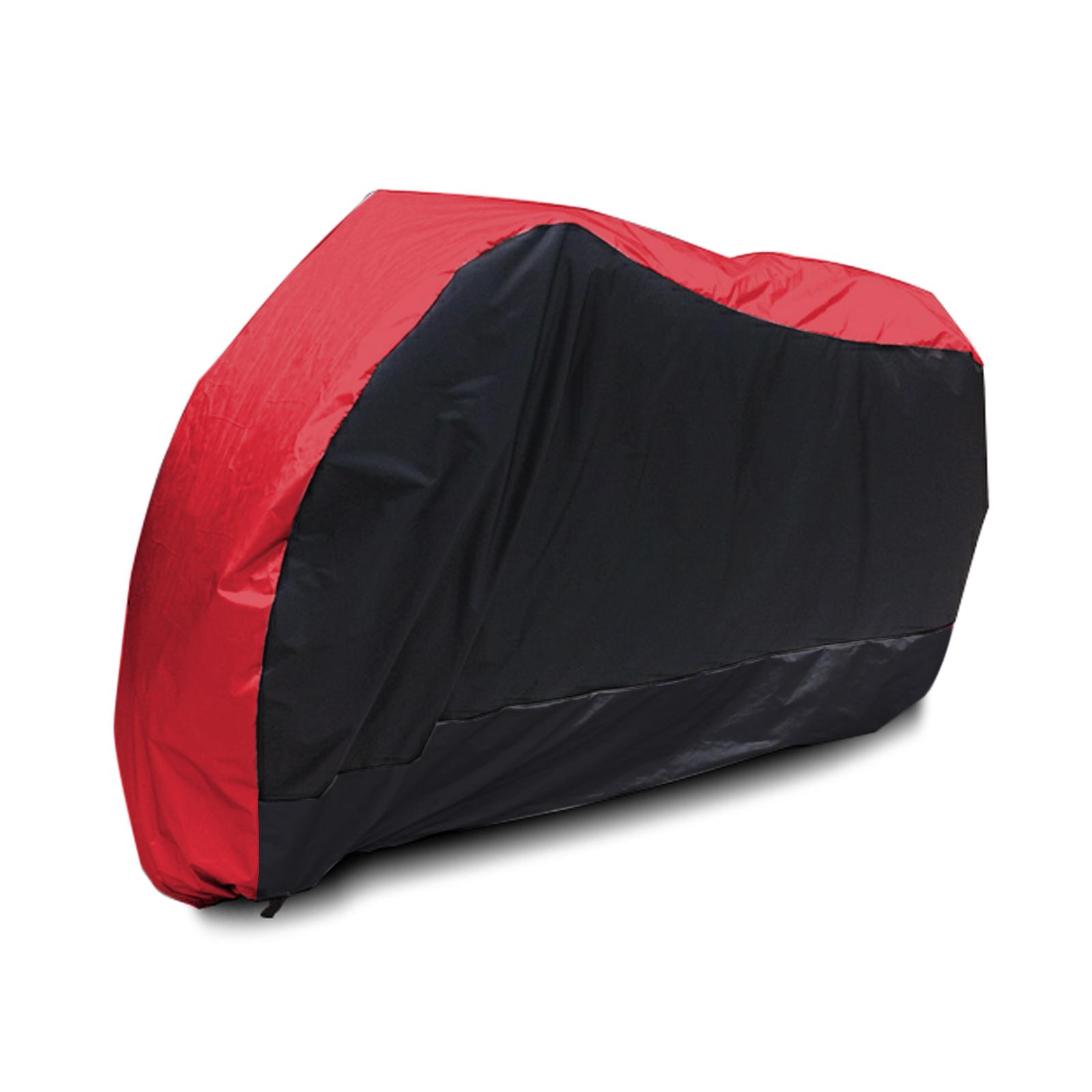 Book Cover Black Xl : Waterproof motor bike cover for cruiser sports bikes red