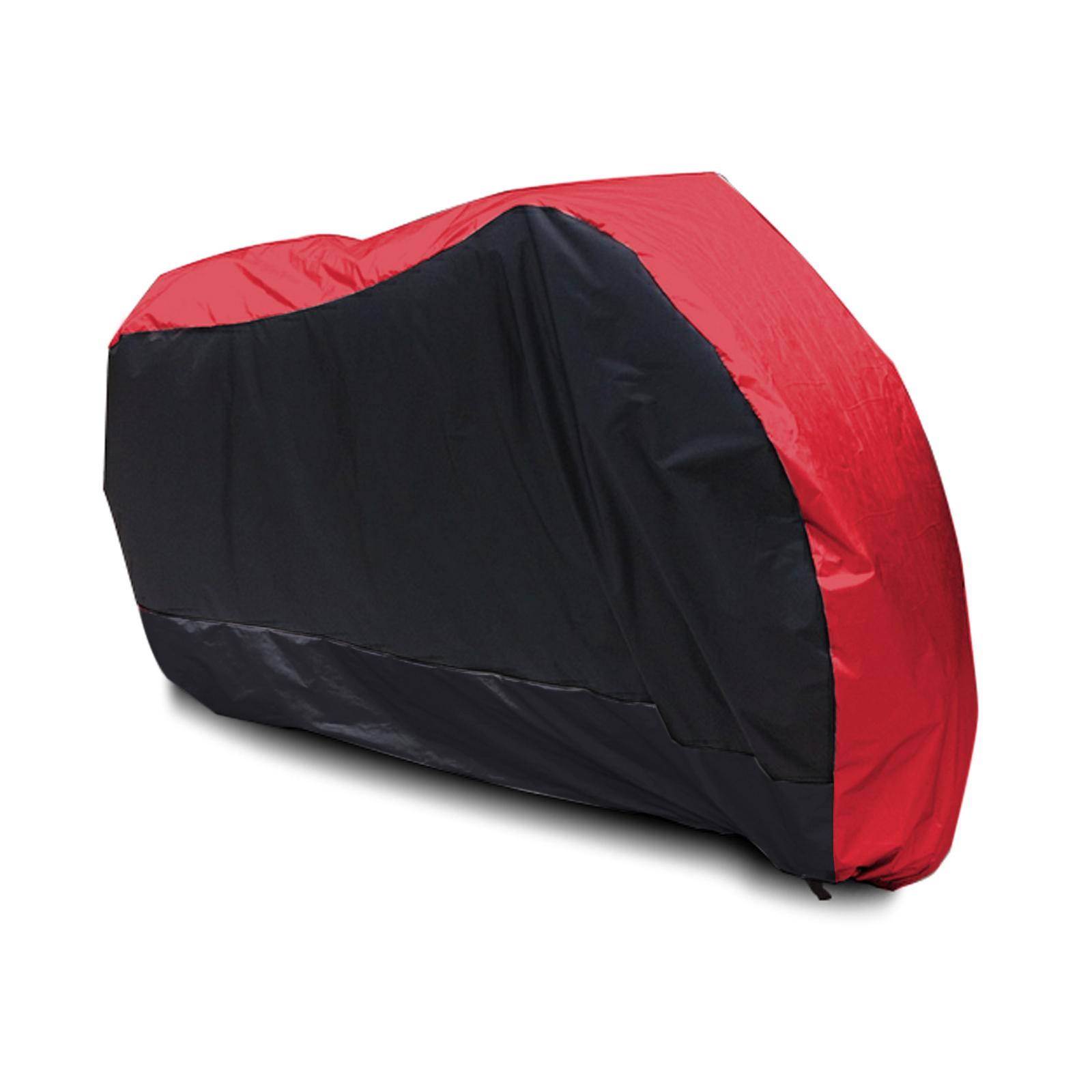 Housse bache moto rouge noir impermeable exterieur for Bache moto exterieur