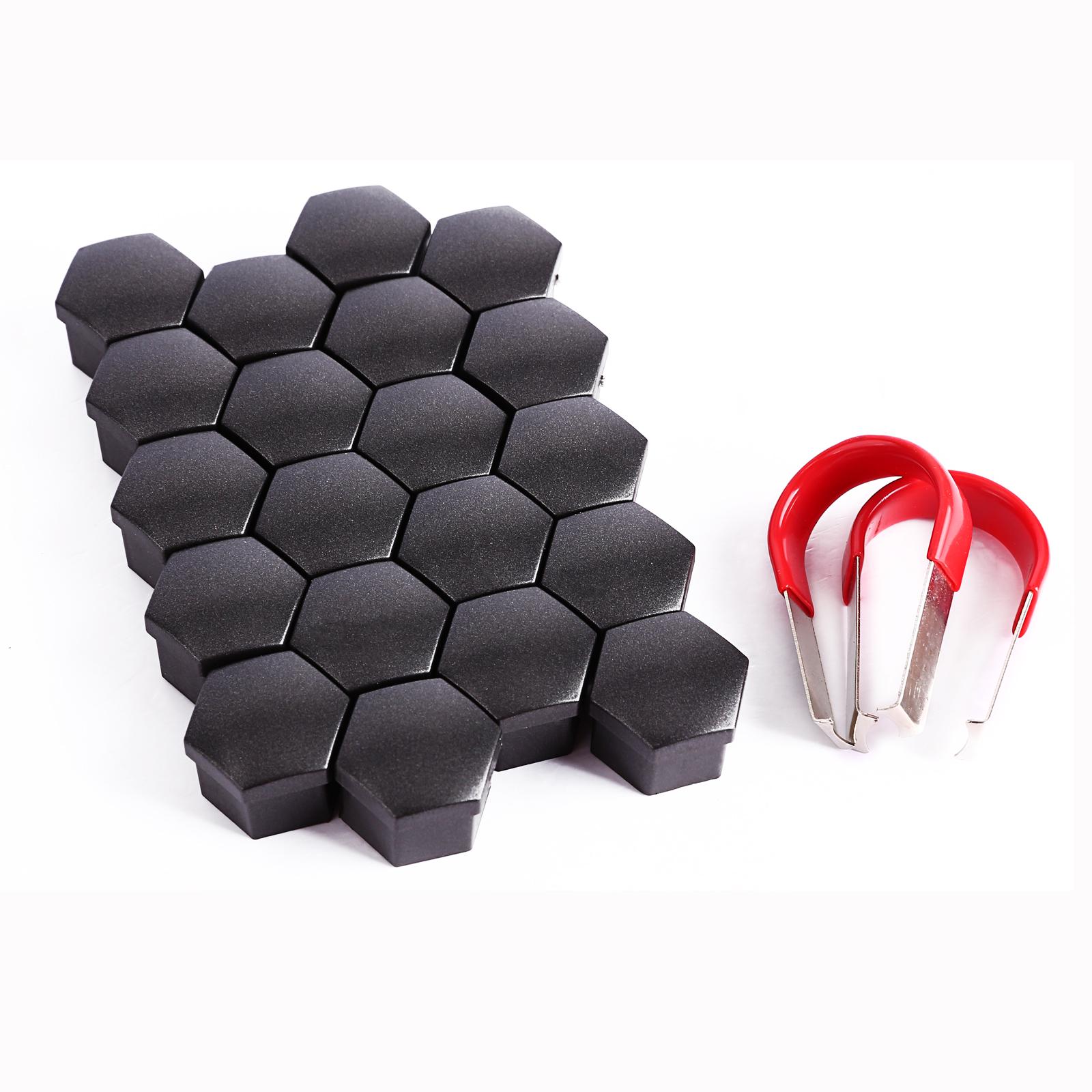 20x alloy wheel nut caps bolt covers vauxhall volvo saab peugeot citroen vw 19mm ebay. Black Bedroom Furniture Sets. Home Design Ideas