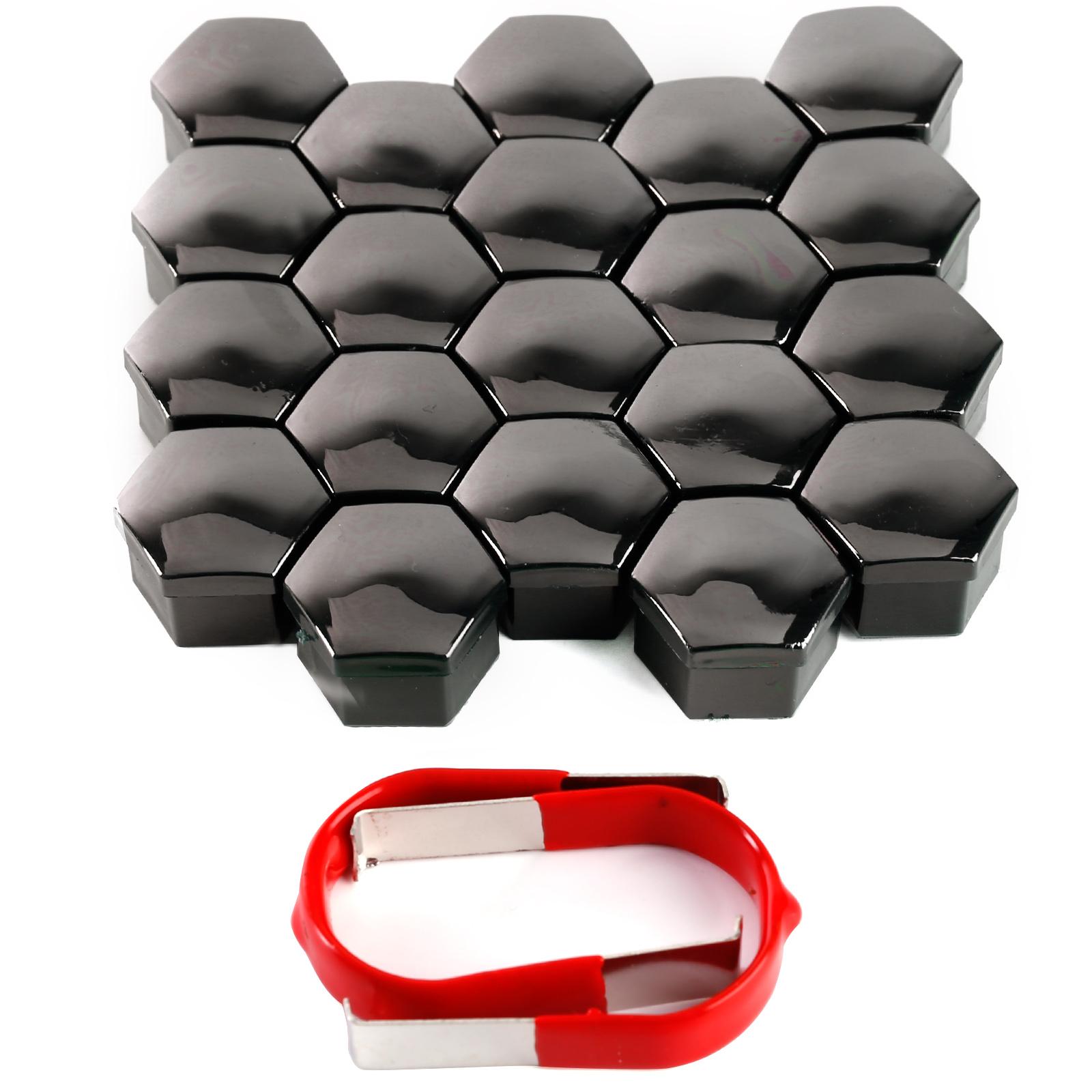 20 X 17mm 19mm Chrome Alloy Wheel Nuts Lugs Bolts Cap