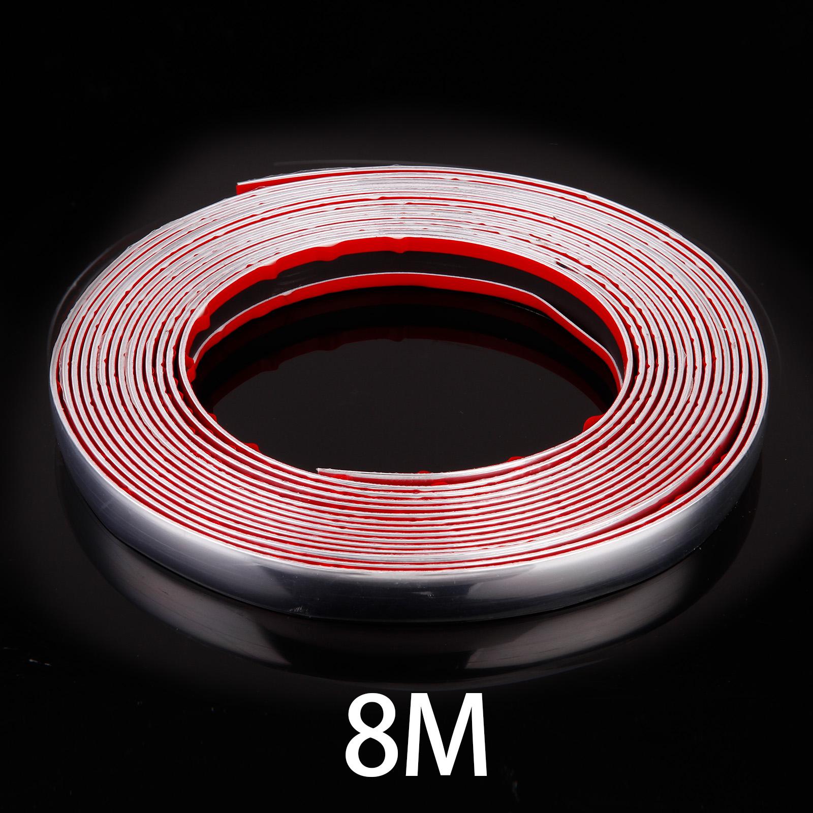 21mm x8m chrom zierleiste leisten chromleiste selbstklebend flexibel