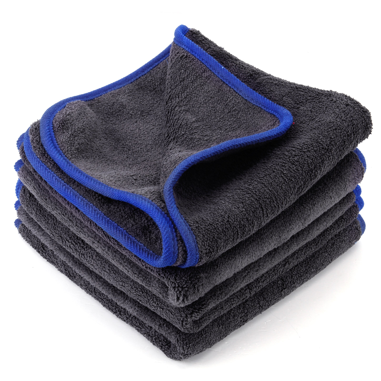 4x car cleaning detailing microfibre soft polish cloths