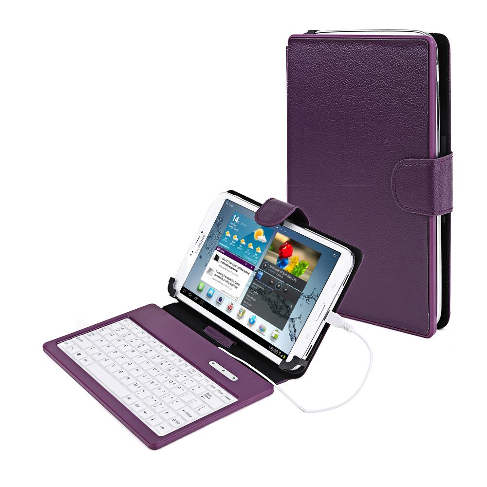 tasche mit tastatur fuer 7 zoll tablet pc micro usb. Black Bedroom Furniture Sets. Home Design Ideas