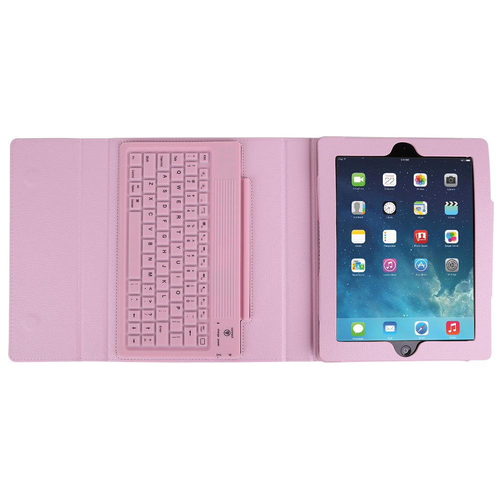 pink h lle tasche case mit drahtlos bluetooth tastatur f r. Black Bedroom Furniture Sets. Home Design Ideas