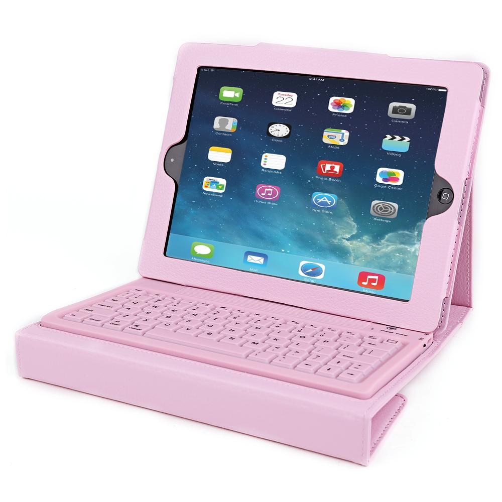 pink h lle tasche case mit drahtlos bluetooth tastatur f r. Black Bedroom Furniture Sets. Home Design Ideas