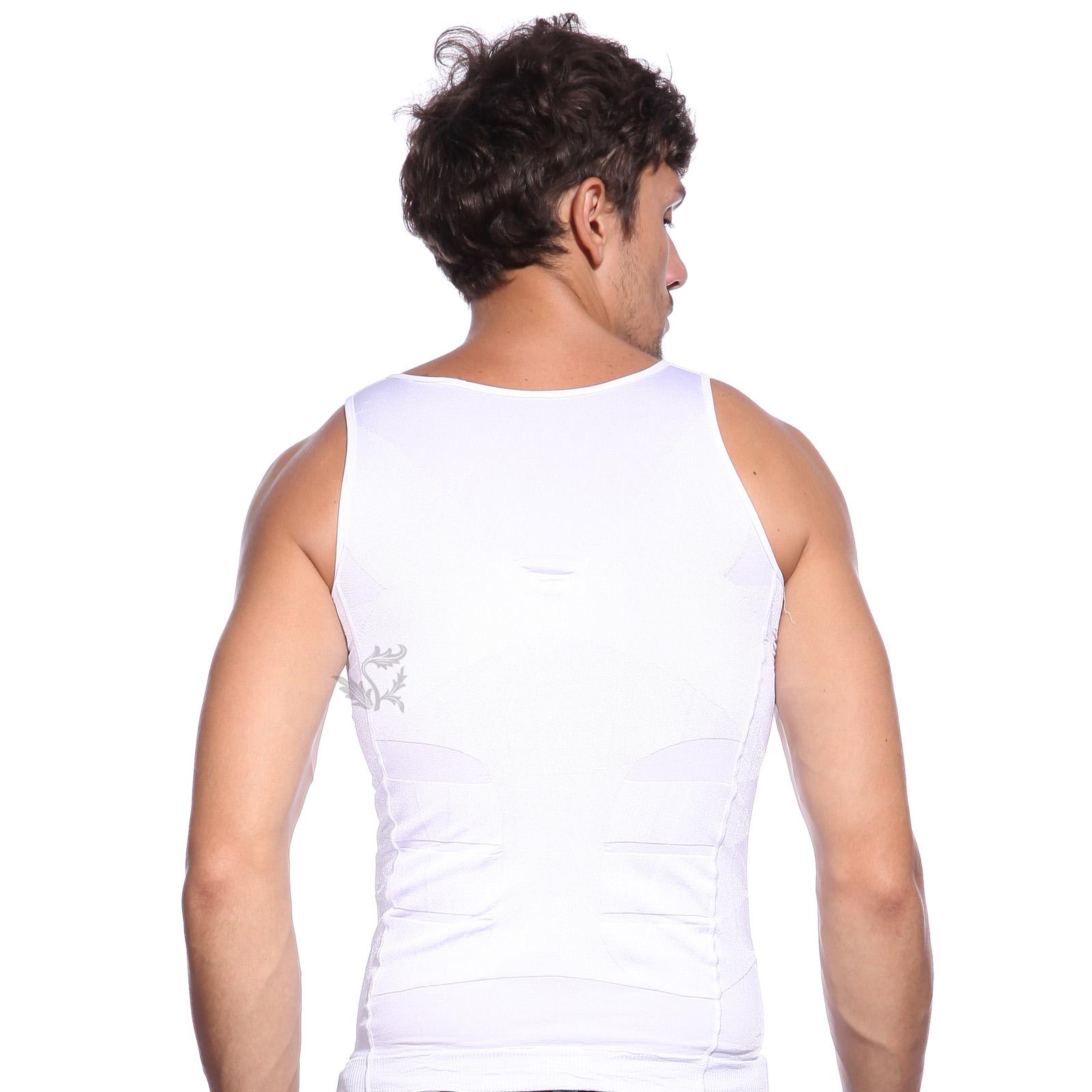 debardeur gaine homme slim ventre plat minceur fitness shaper l xl ebay. Black Bedroom Furniture Sets. Home Design Ideas
