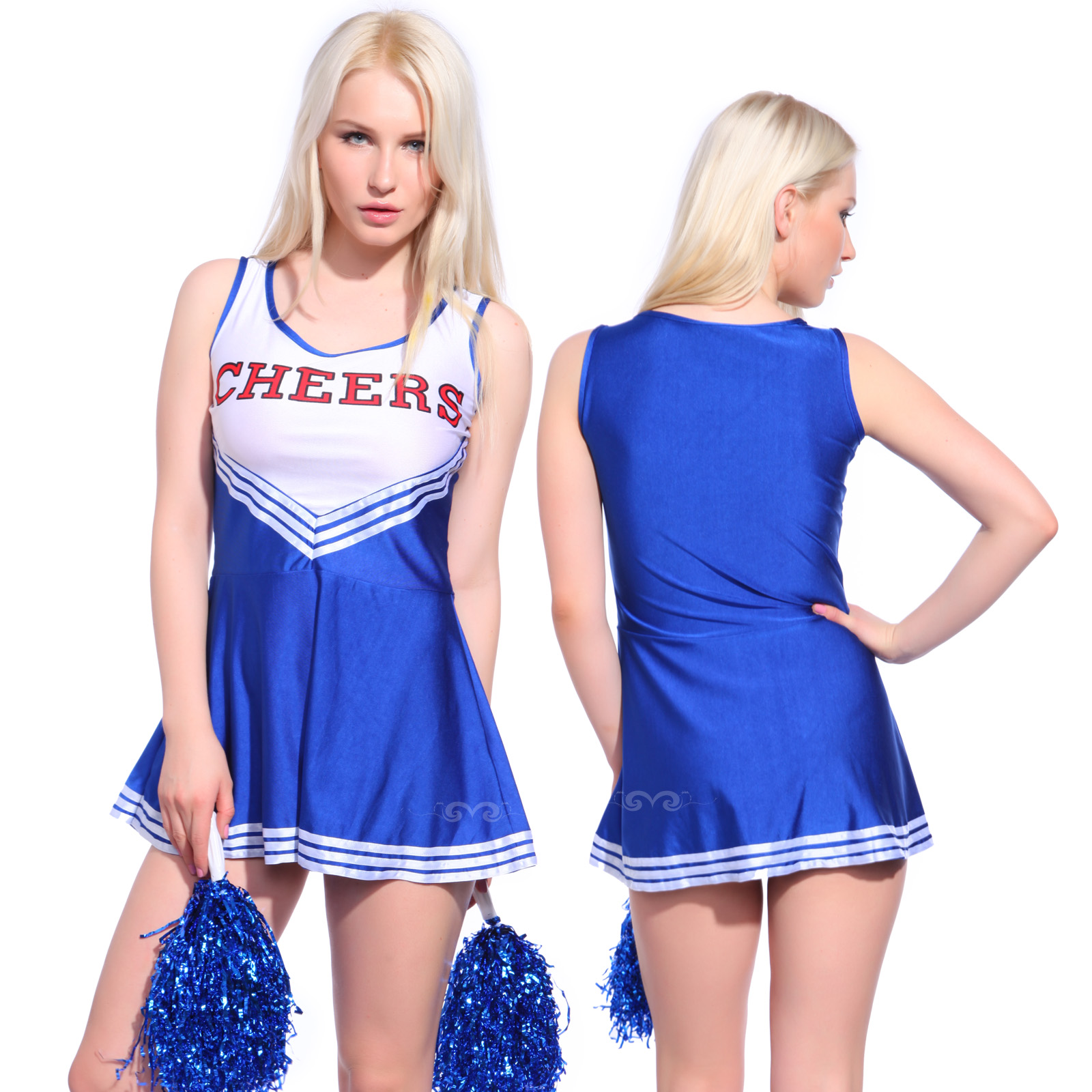 Sexy-Cheerleader-Kostuem-Kleider-Uniform-Cheerleading-Cheer-Leader-5-Farben-GOGO