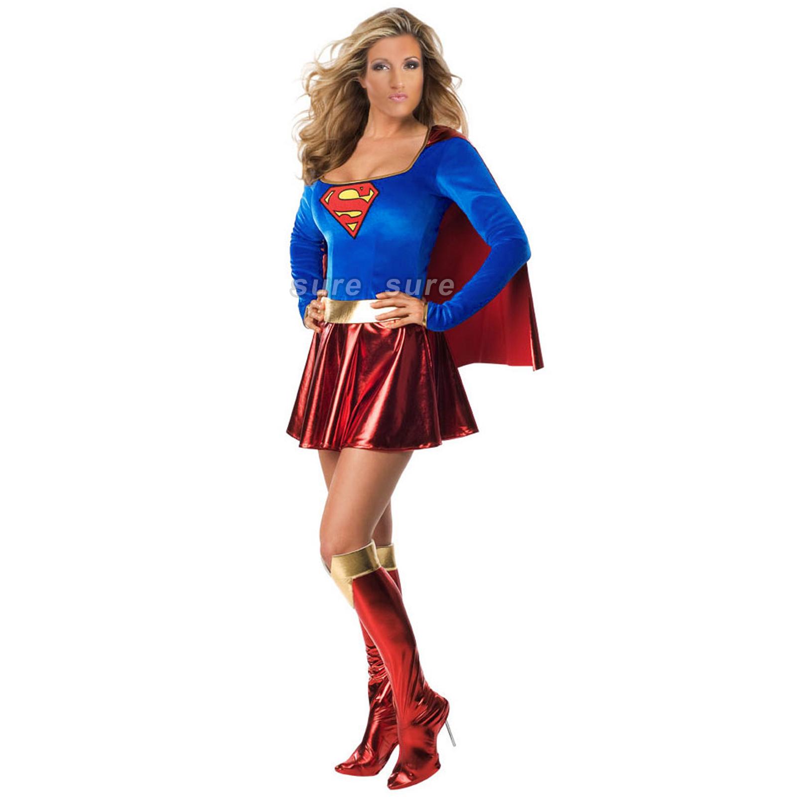 Karneval Kostüm Damen Supergirl Wonder Woman Sexy Robin Spidergirl