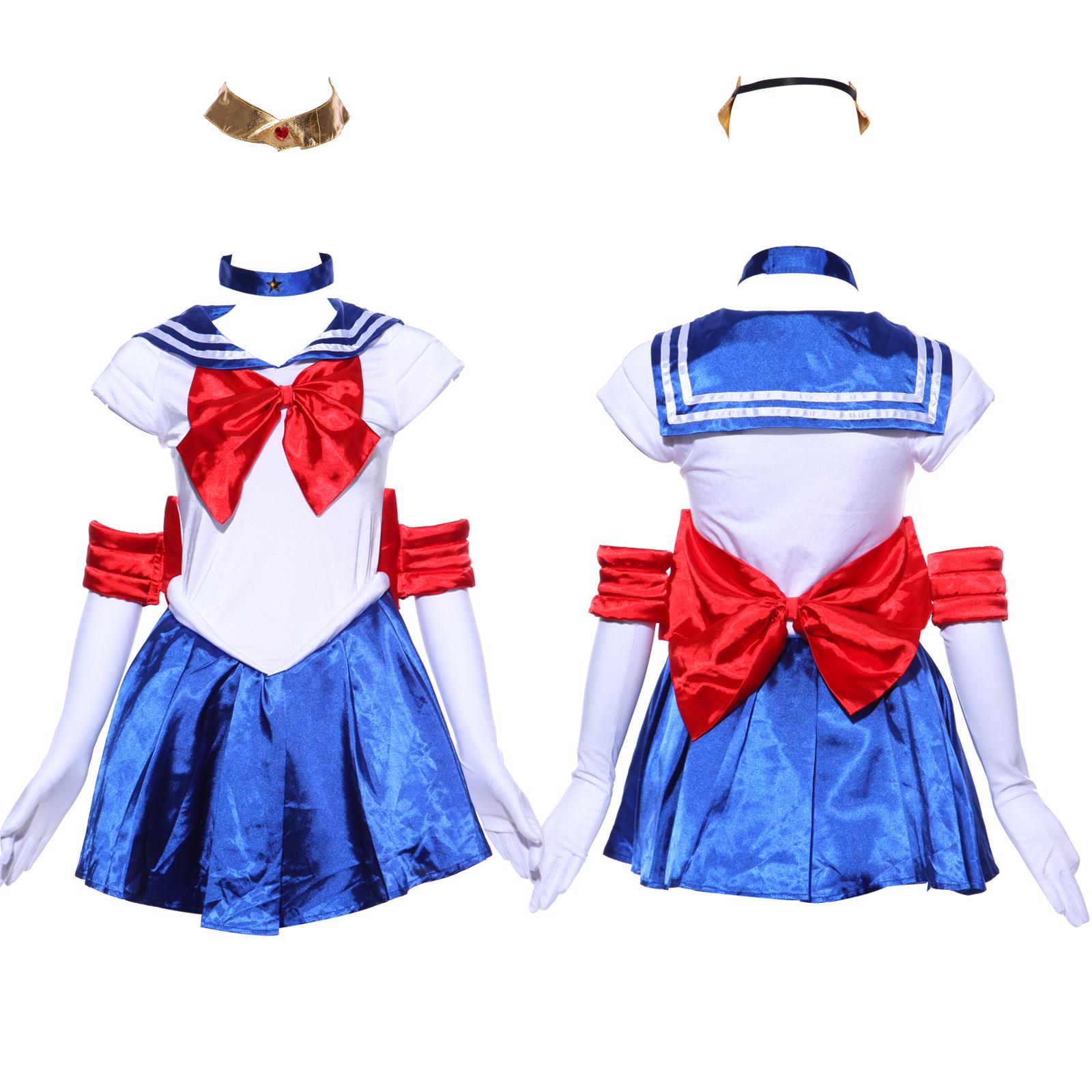 sailor moon costume serena cosplay anime uniform fancy. Black Bedroom Furniture Sets. Home Design Ideas