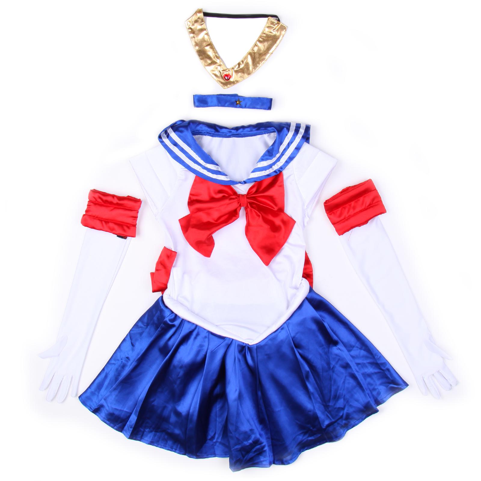 Sailor Moon Costume Cosplay Uniform Sailormoon Fancy Dress ...