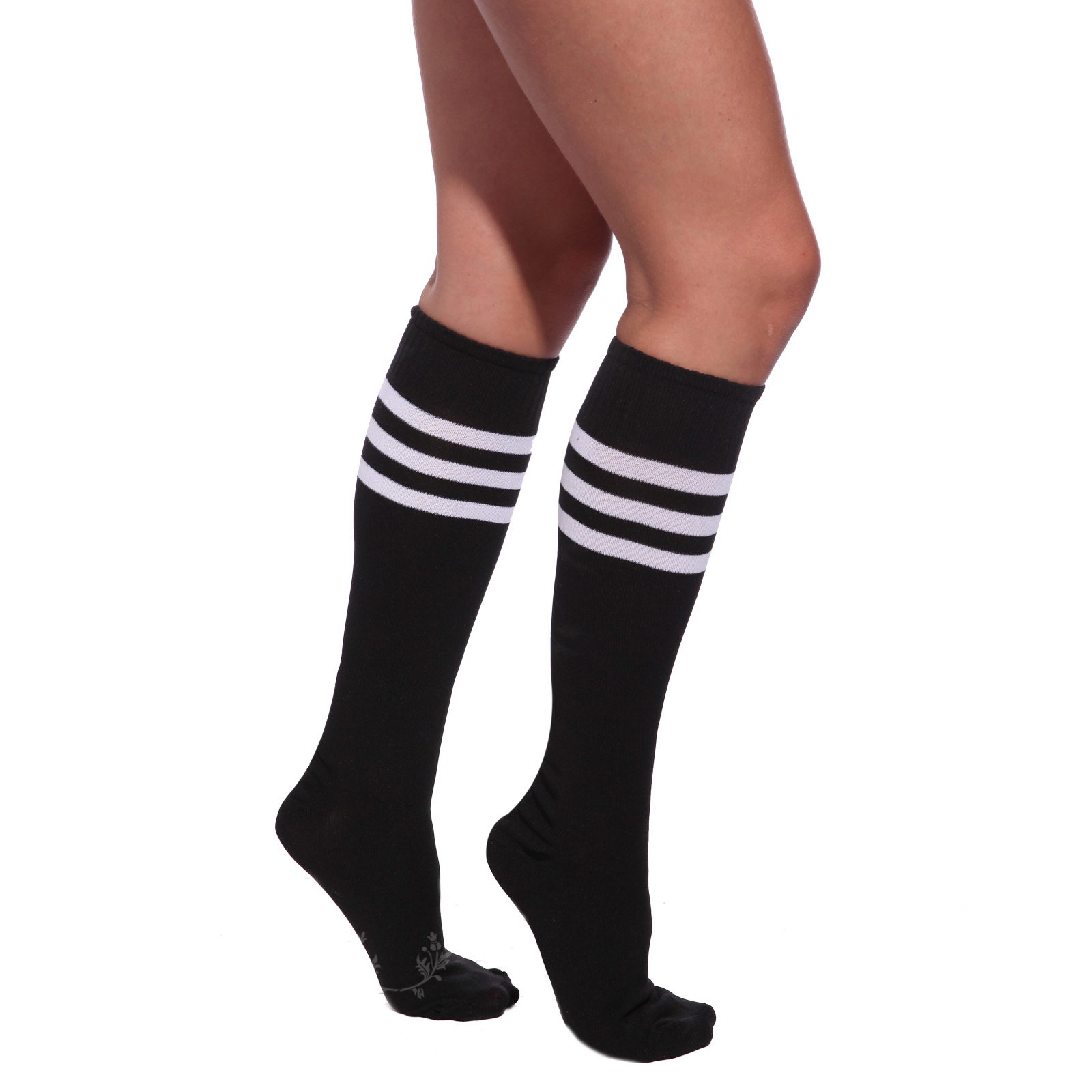 Our custom printed sport knee high socks for men and women are perfect for any sport and can be totally personalized for individuals and teams. Use the design tools to upload images or graphics and choose from our font collection for the perfect text. No minimums and bulk discounts available.