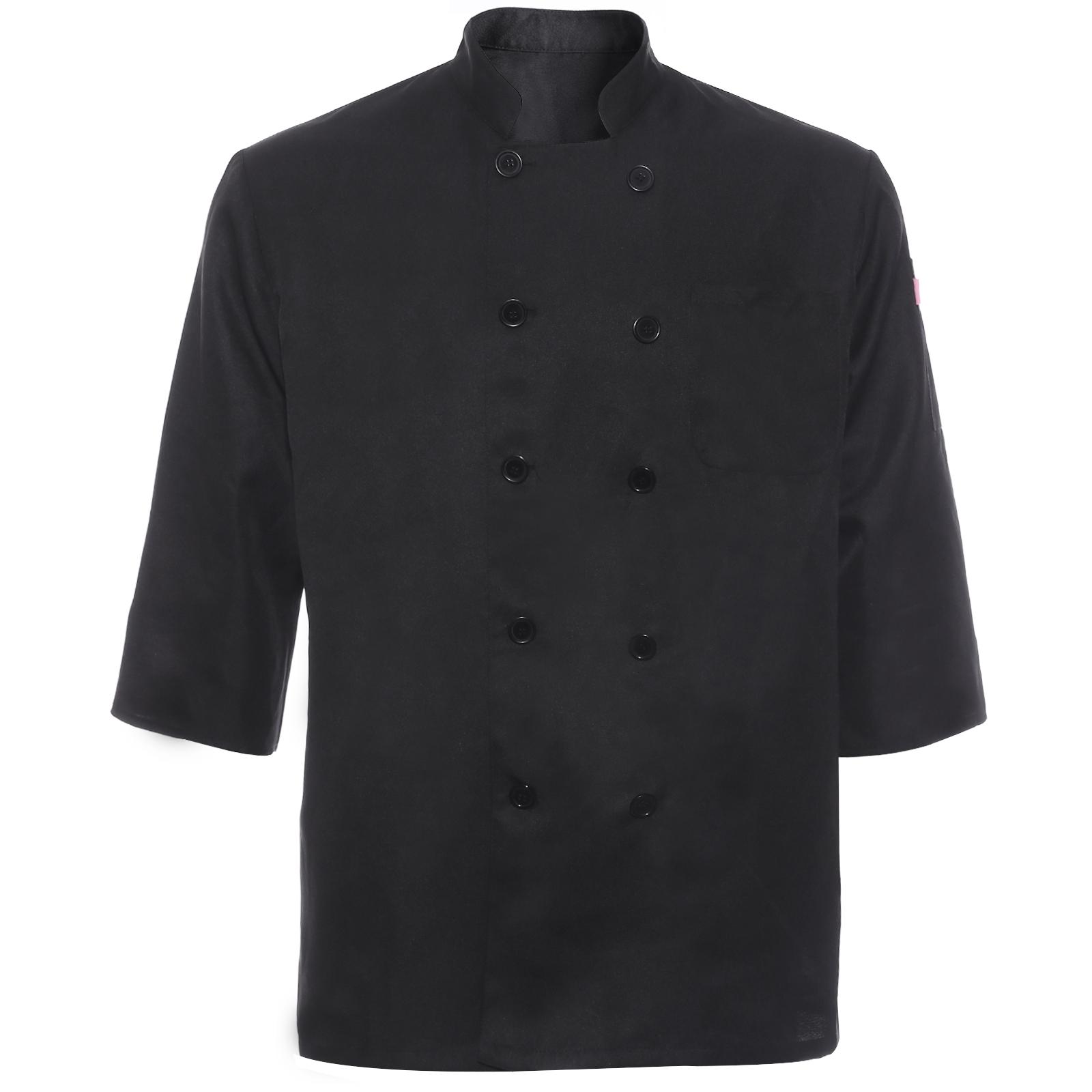 Unisex Kitchen Chef Uniform Top Jacket Coat Cooker Work