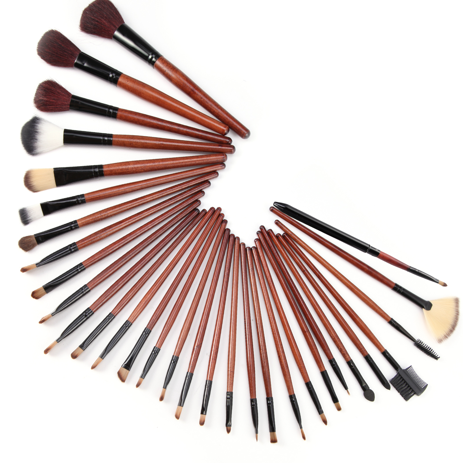 pinselset 31st echthaare make up brush pinsel set pinsel mit kosmetik tasche ebay. Black Bedroom Furniture Sets. Home Design Ideas