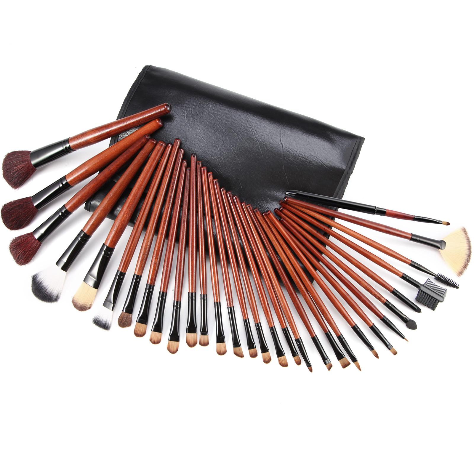 31tlg echthaare pinsel set echthaare brush make up set. Black Bedroom Furniture Sets. Home Design Ideas