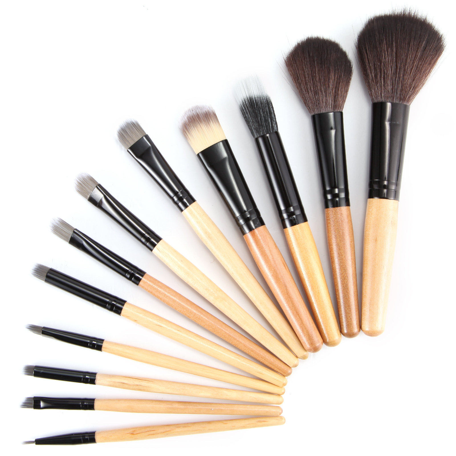 12 tlg professionelle make up pinsel set brush kosmetik. Black Bedroom Furniture Sets. Home Design Ideas
