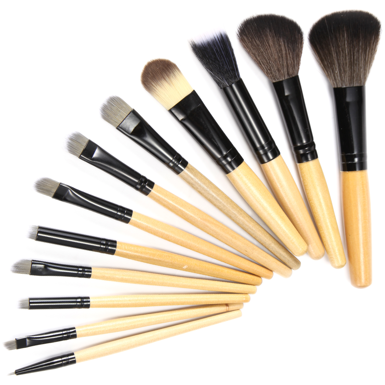 12 tlg pinsel set make up brush professionelle kosmetik. Black Bedroom Furniture Sets. Home Design Ideas