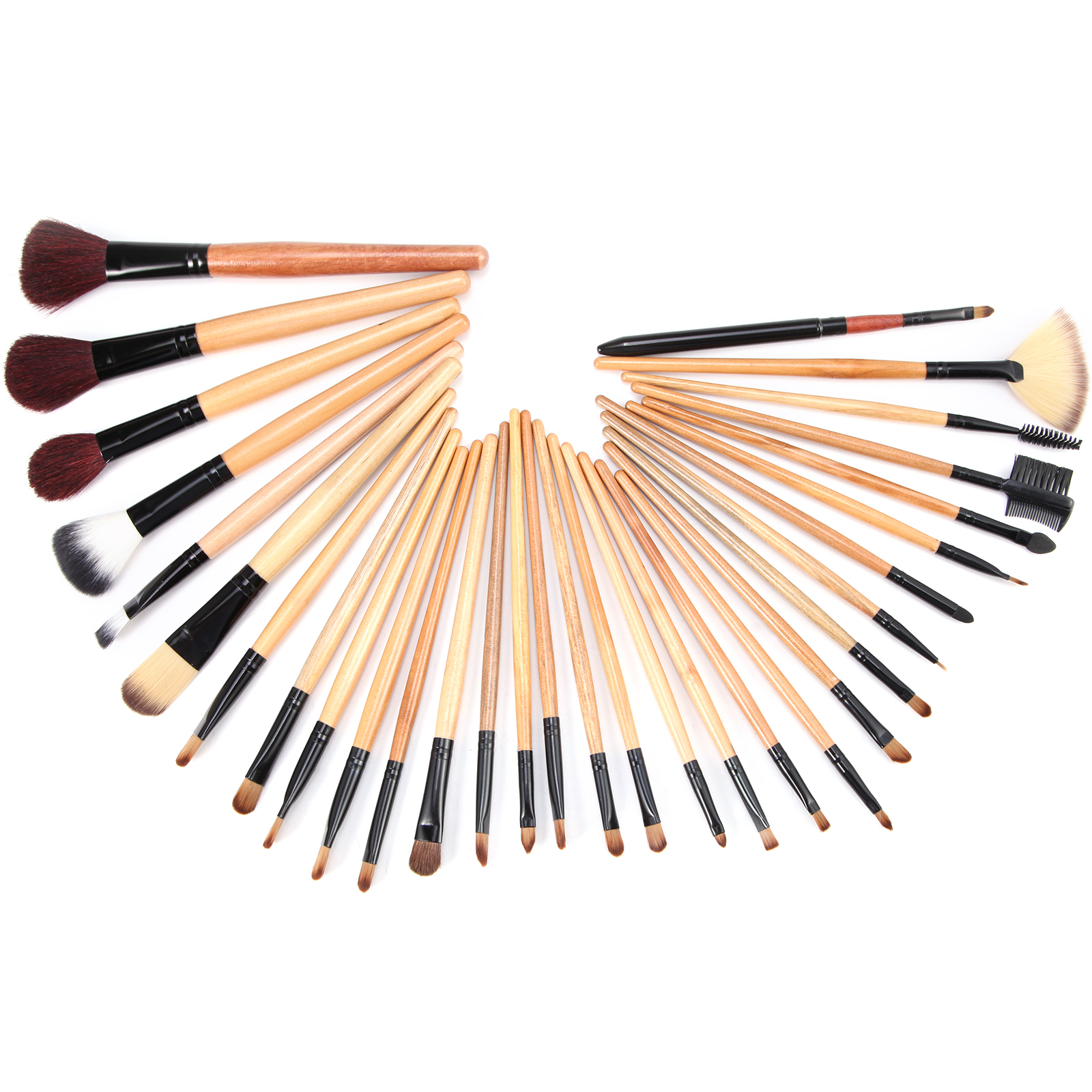 31tlg Pinsel Set Make-up Echthaar Brush Set Schminkpinsel mit kosmetik ...
