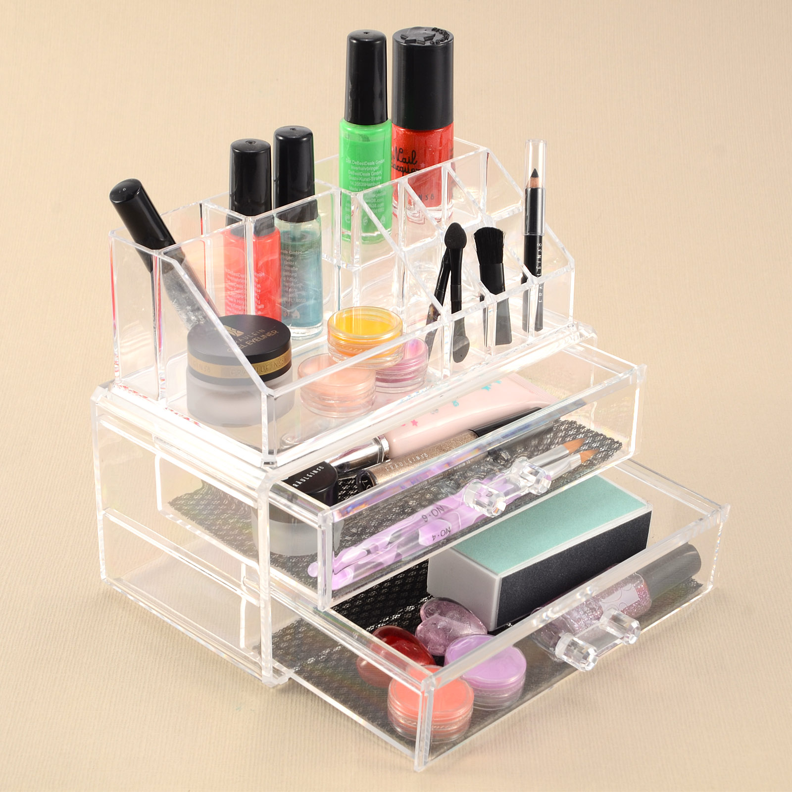 acryl kosmetik organizer schublade aufbewahrung make up. Black Bedroom Furniture Sets. Home Design Ideas
