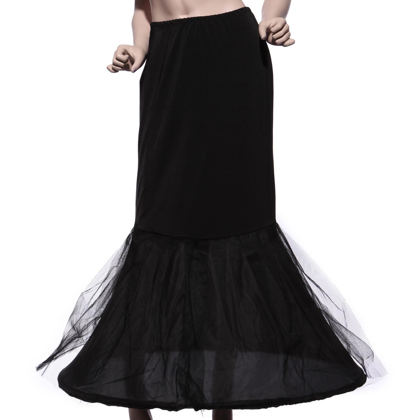 Crinoline jupon jupe petticoat mariage sirene robe de for Robe noire pour la noce